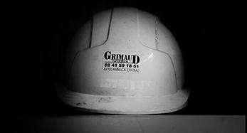 Casque de chantier avec logo Grimaud